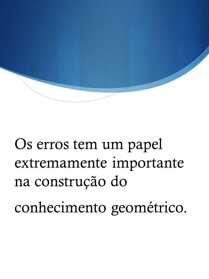 Os erros tem um papel extremamente importante na construção do conhecimento geométrico.