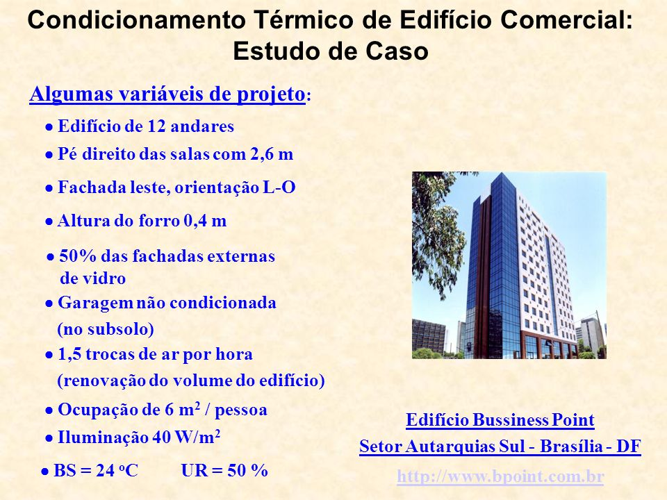Condicionamento Térmico de Edifício Comercial: Estudo de Caso