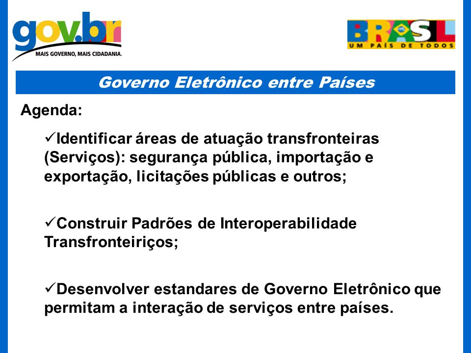 Governo Eletrônico entre Países