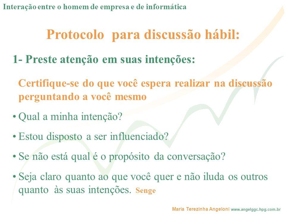 Protocolo para discussão hábil: