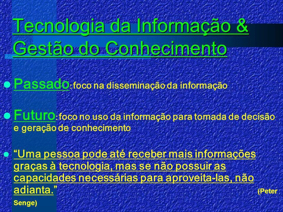 Tecnologia da Informação & Gestão do Conhecimento