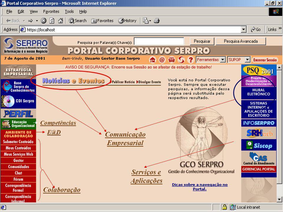 Comunicação Empresarial Serviços e Aplicações Colaboração