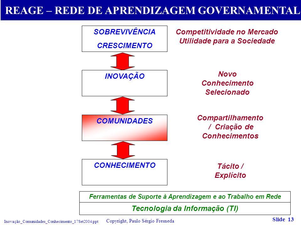 REAGE – REDE DE APRENDIZAGEM GOVERNAMENTAL