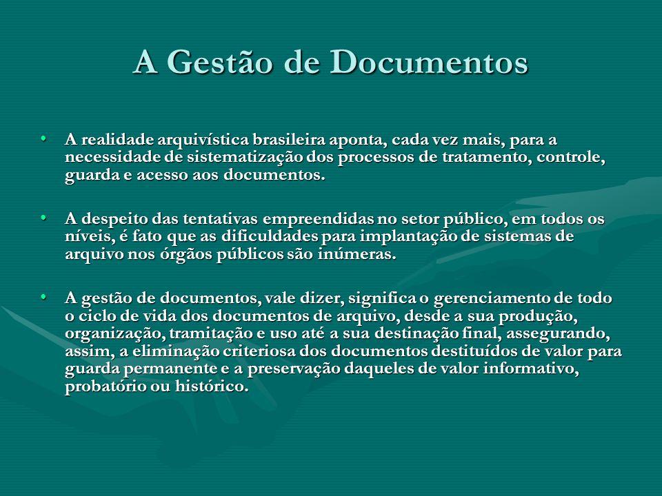 A Gestão de Documentos