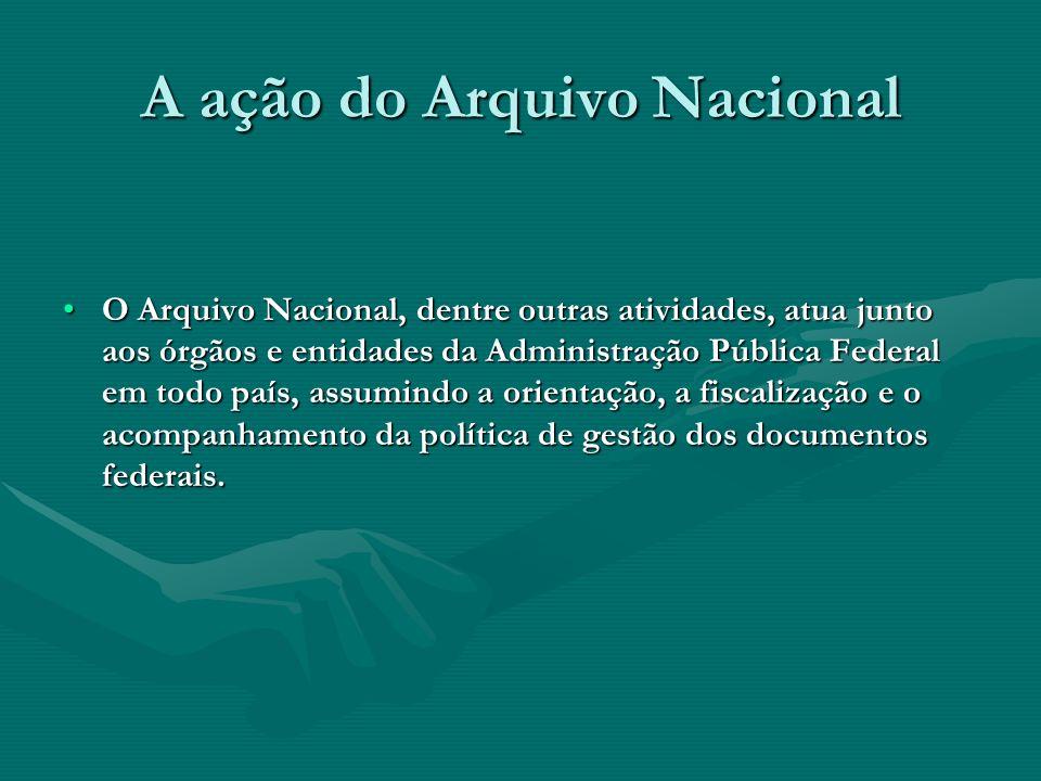 A ação do Arquivo Nacional