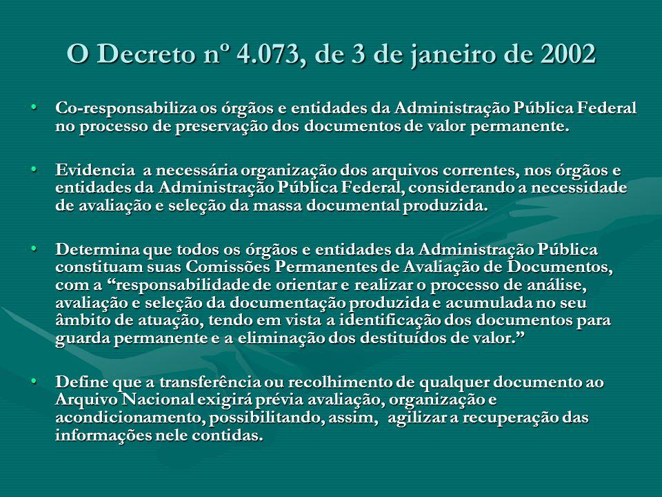 O Decreto nº 4.073, de 3 de janeiro de 2002