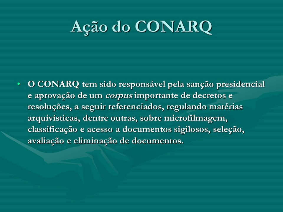 Ação do CONARQ