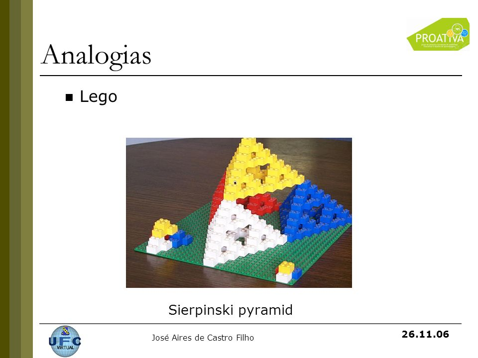 Analogias Lego Sierpinski pyramid
