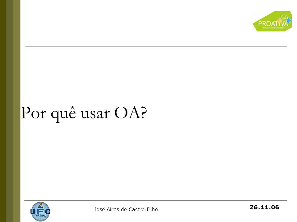 Por quê usar OA