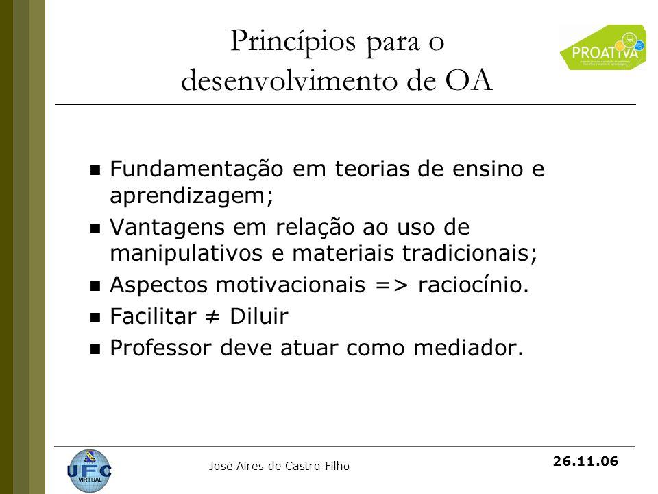 Princípios para o desenvolvimento de OA