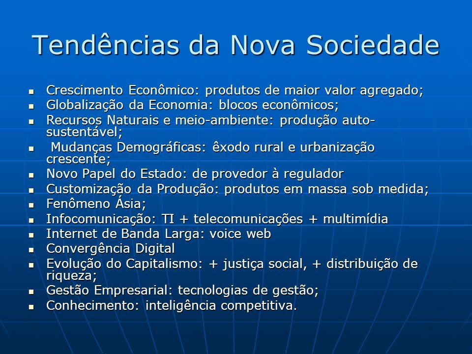 Tendências da Nova Sociedade
