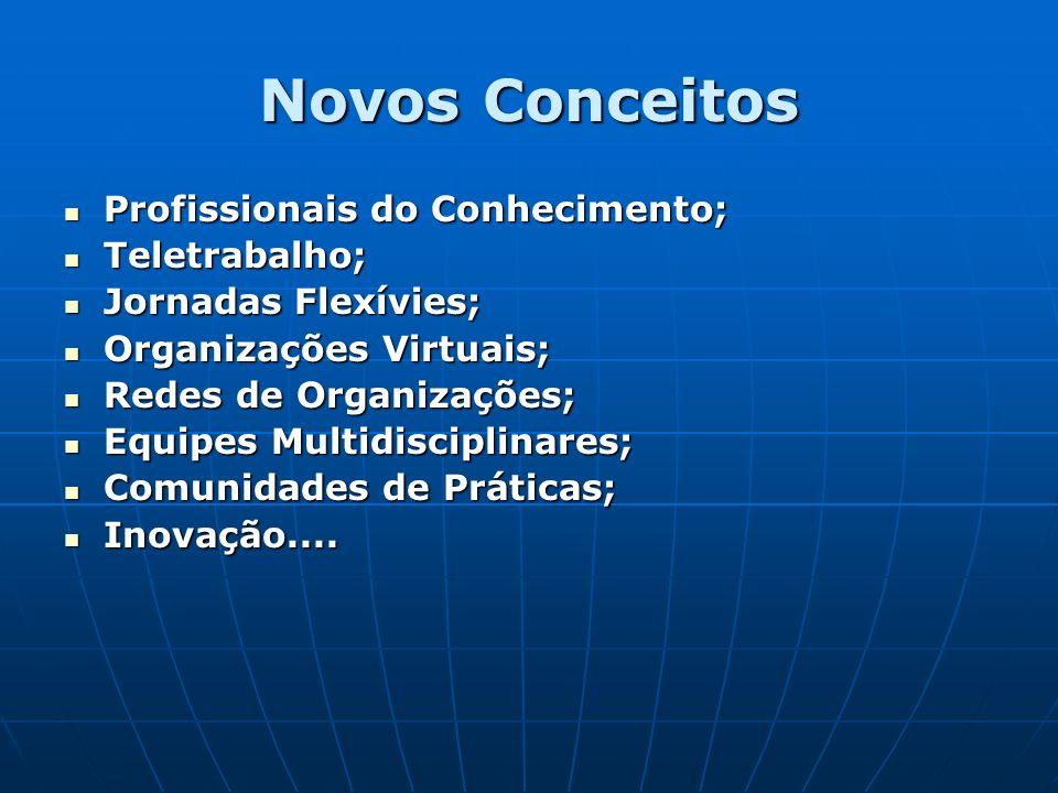 Novos Conceitos Profissionais do Conhecimento; Teletrabalho;