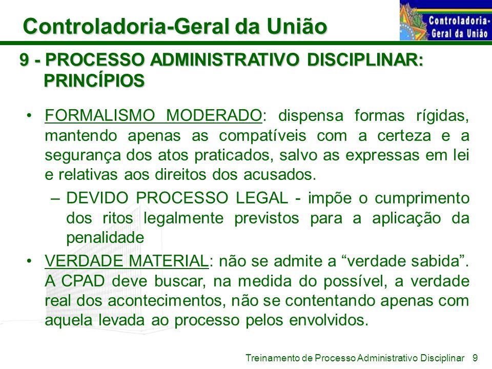 9 - PROCESSO ADMINISTRATIVO DISCIPLINAR: PRINCÍPIOS