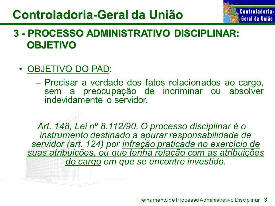 3 - PROCESSO ADMINISTRATIVO DISCIPLINAR: OBJETIVO