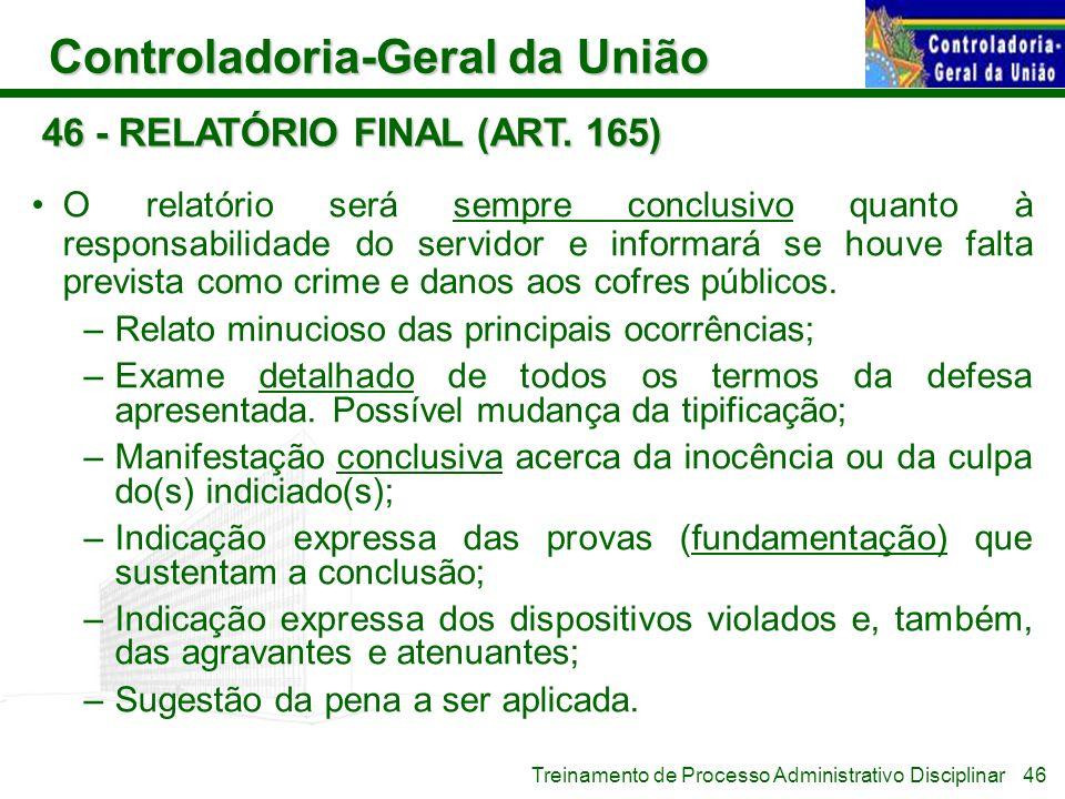 46 - RELATÓRIO FINAL (ART. 165)