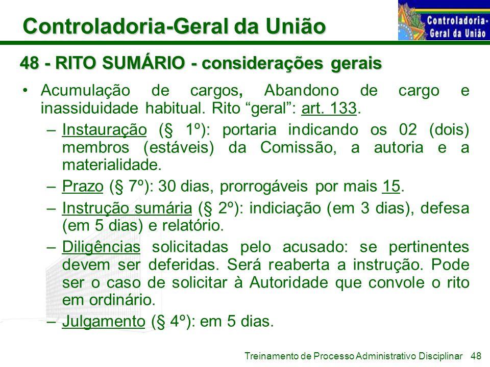 48 - RITO SUMÁRIO - considerações gerais