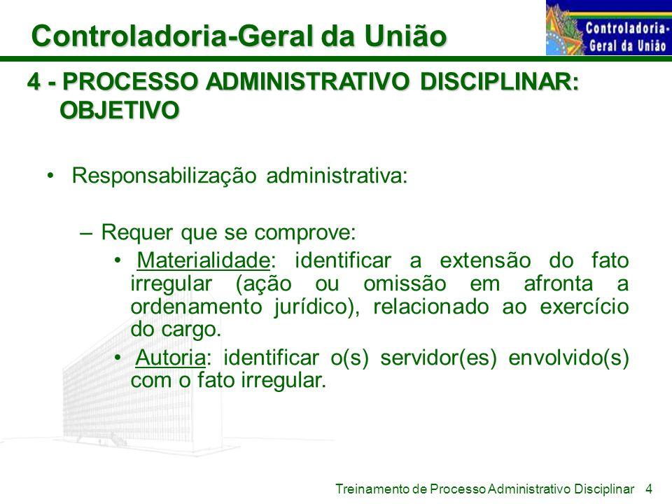 4 - PROCESSO ADMINISTRATIVO DISCIPLINAR: OBJETIVO
