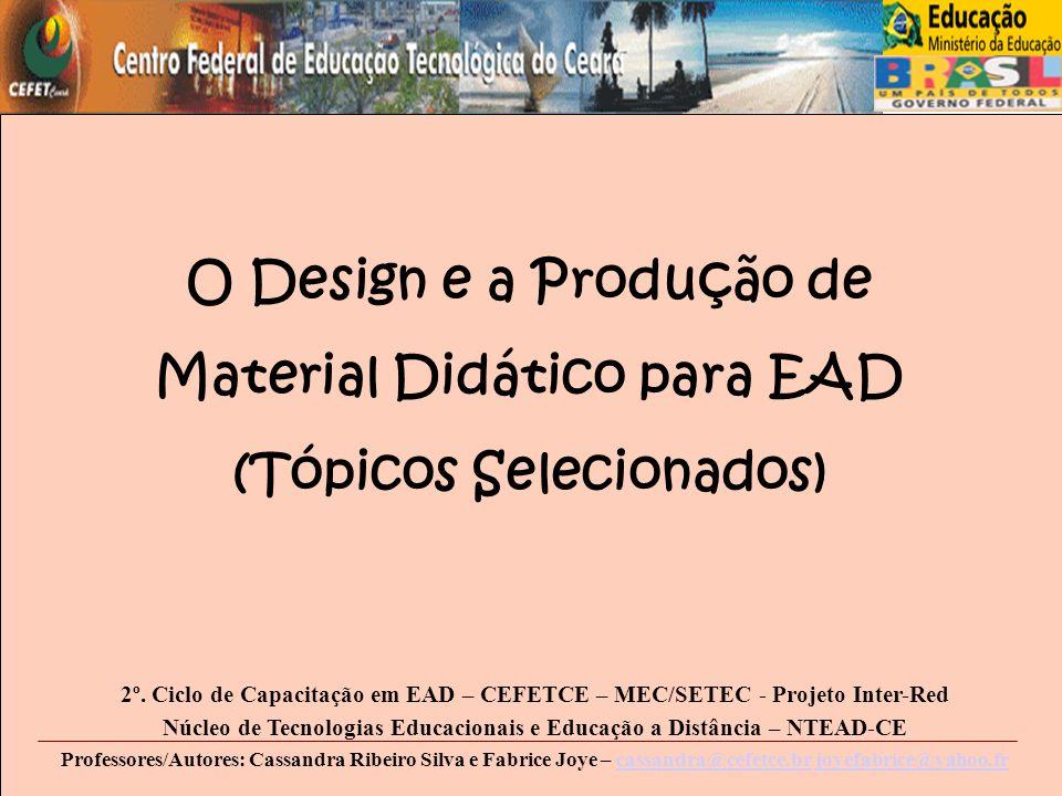 O Design e a Produção de Material Didático para EAD