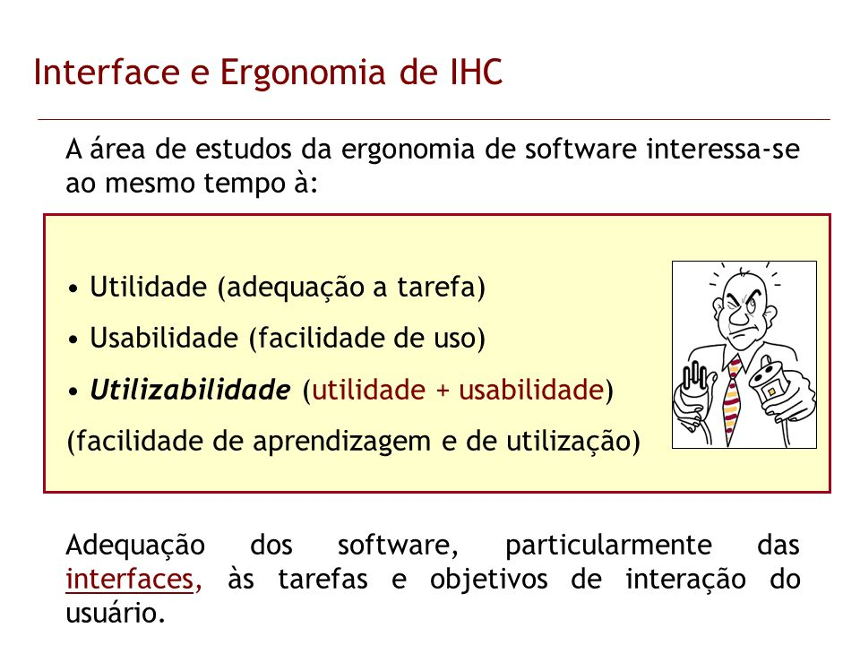 Interface e Ergonomia de IHC