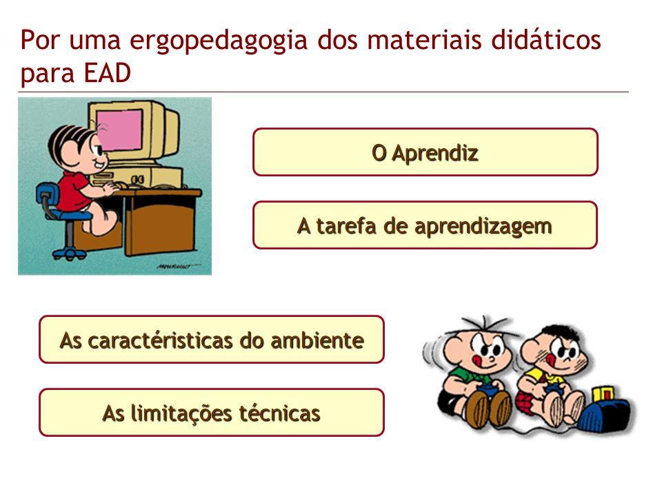 Por uma ergopedagogia dos materiais didáticos para EAD