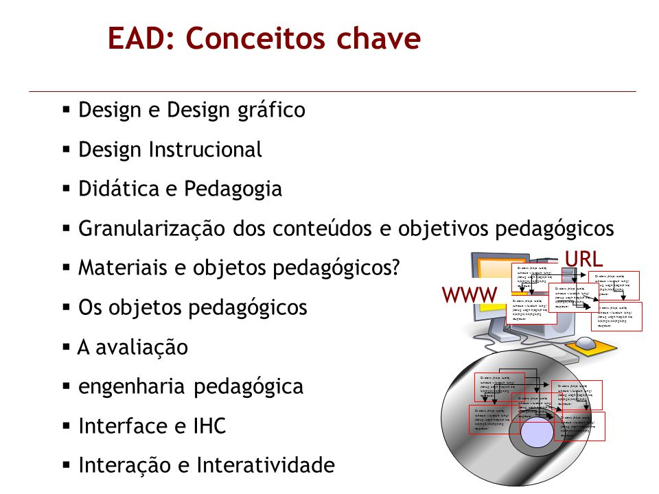 EAD: Conceitos chave Design e Design gráfico Design Instrucional