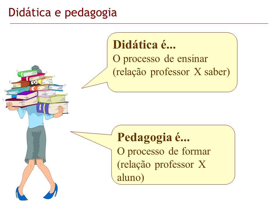 Didática é... Pedagogia é... Didática e pedagogia