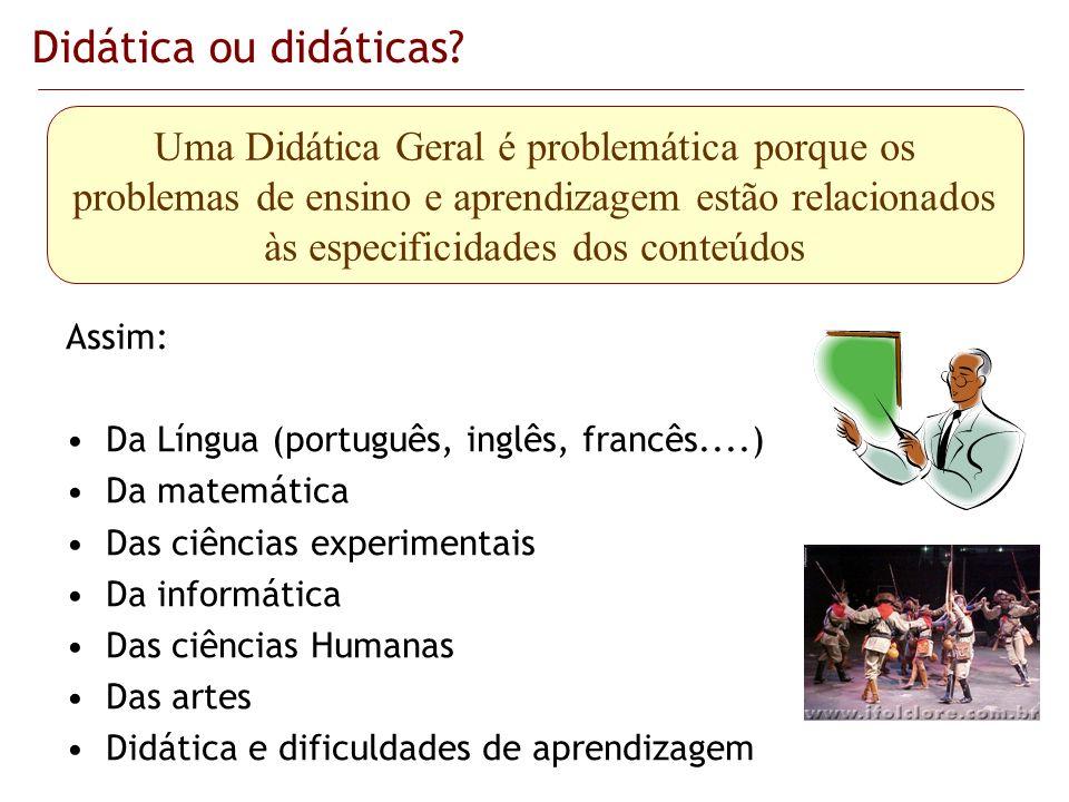 Didática ou didáticas