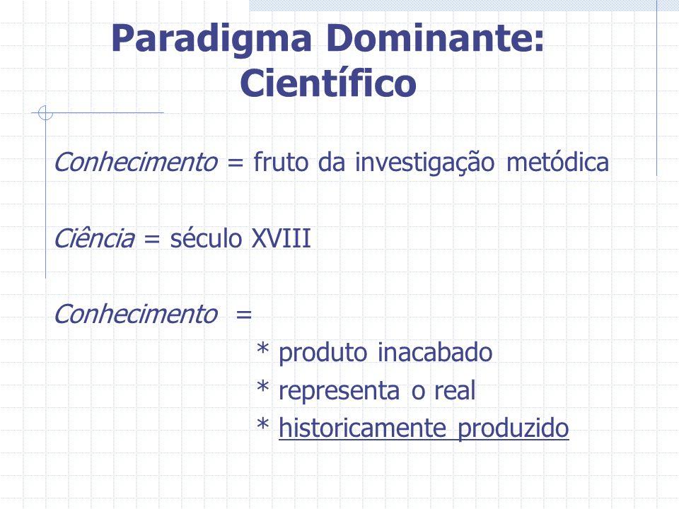 Paradigma Dominante: Científico