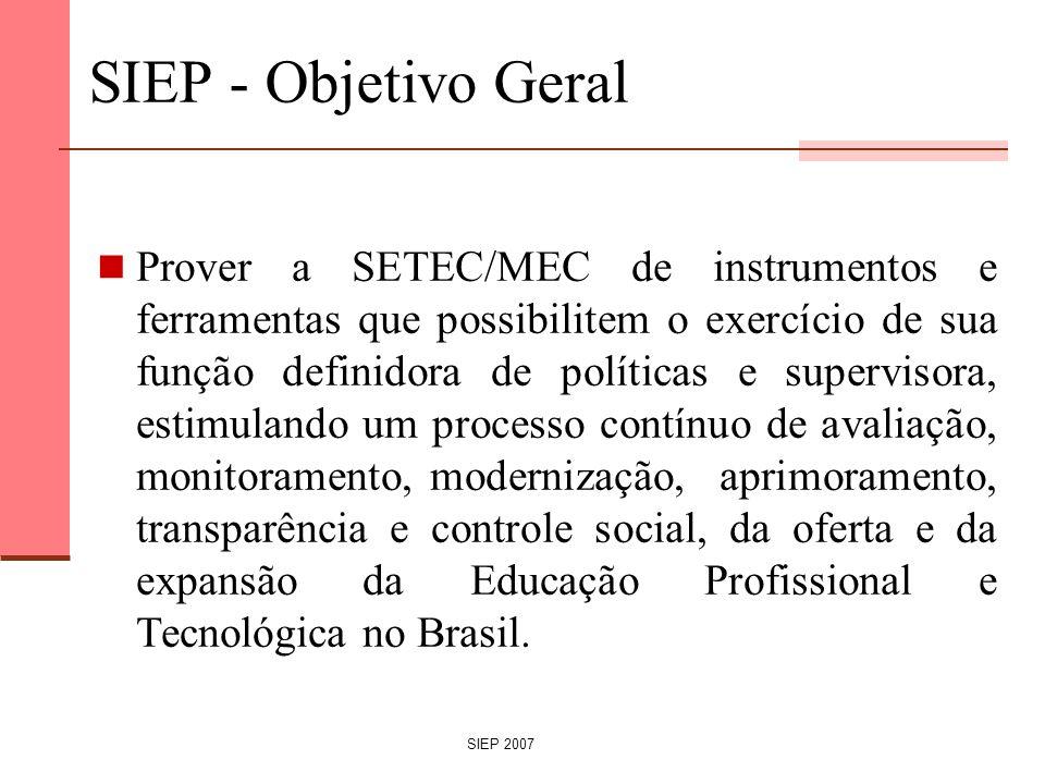 SIEP - Objetivo Geral