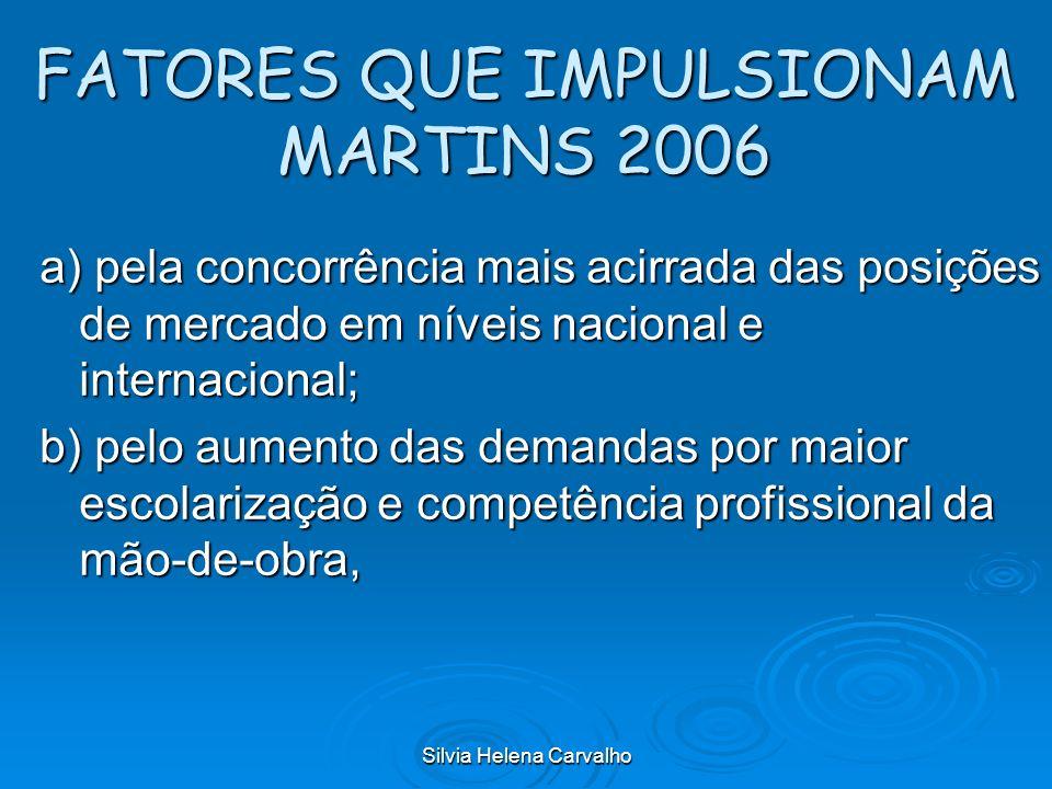 FATORES QUE IMPULSIONAM MARTINS 2006