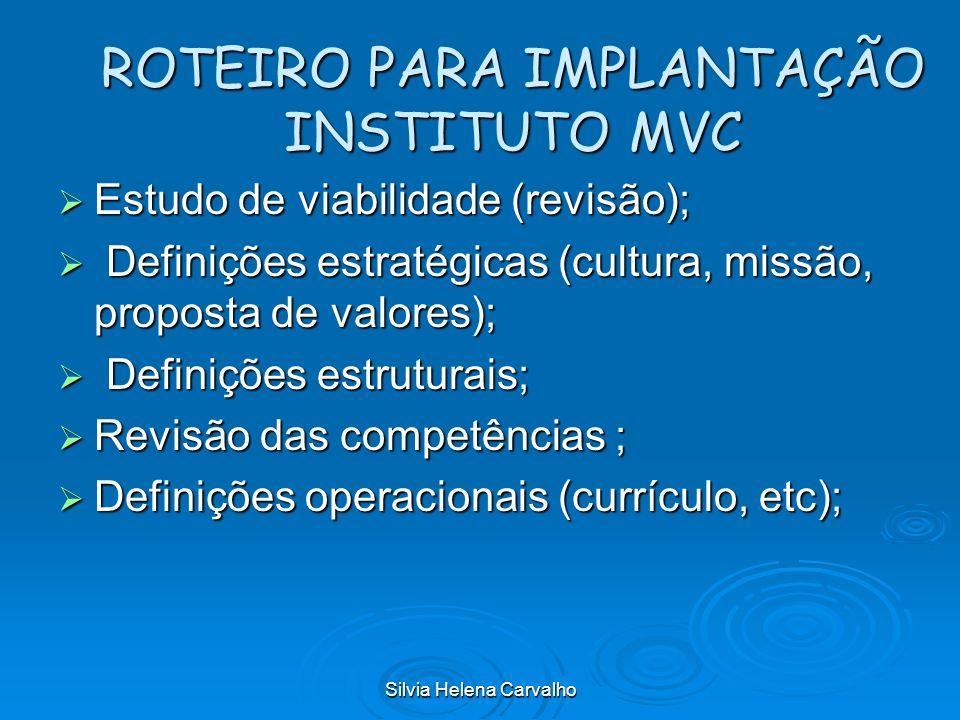 ROTEIRO PARA IMPLANTAÇÃO INSTITUTO MVC