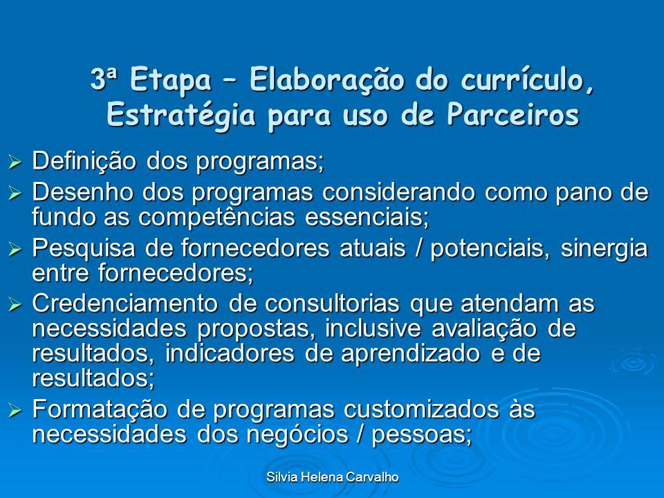 3ª Etapa – Elaboração do currículo, Estratégia para uso de Parceiros