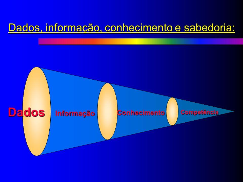 Dados, informação, conhecimento e sabedoria: