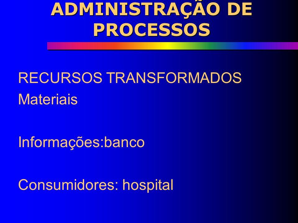 ADMINISTRAÇÃO DE PROCESSOS