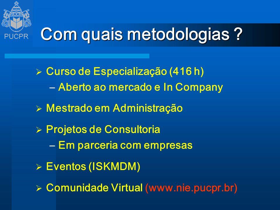 Com quais metodologias