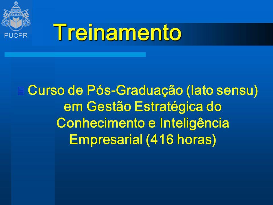TreinamentoCurso de Pós-Graduação (lato sensu) em Gestão Estratégica do Conhecimento e Inteligência Empresarial (416 horas)