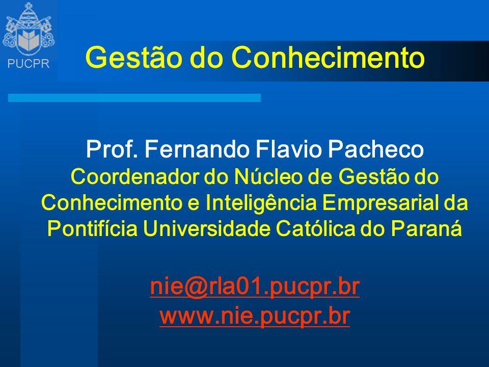 Gestão do Conhecimento Prof. Fernando Flavio Pacheco