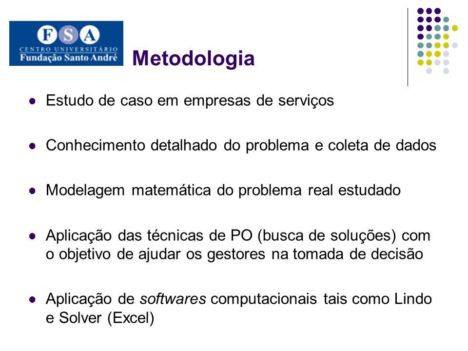 Metodologia Estudo de caso em empresas de serviços
