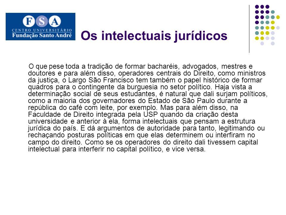 Os intelectuais jurídicos