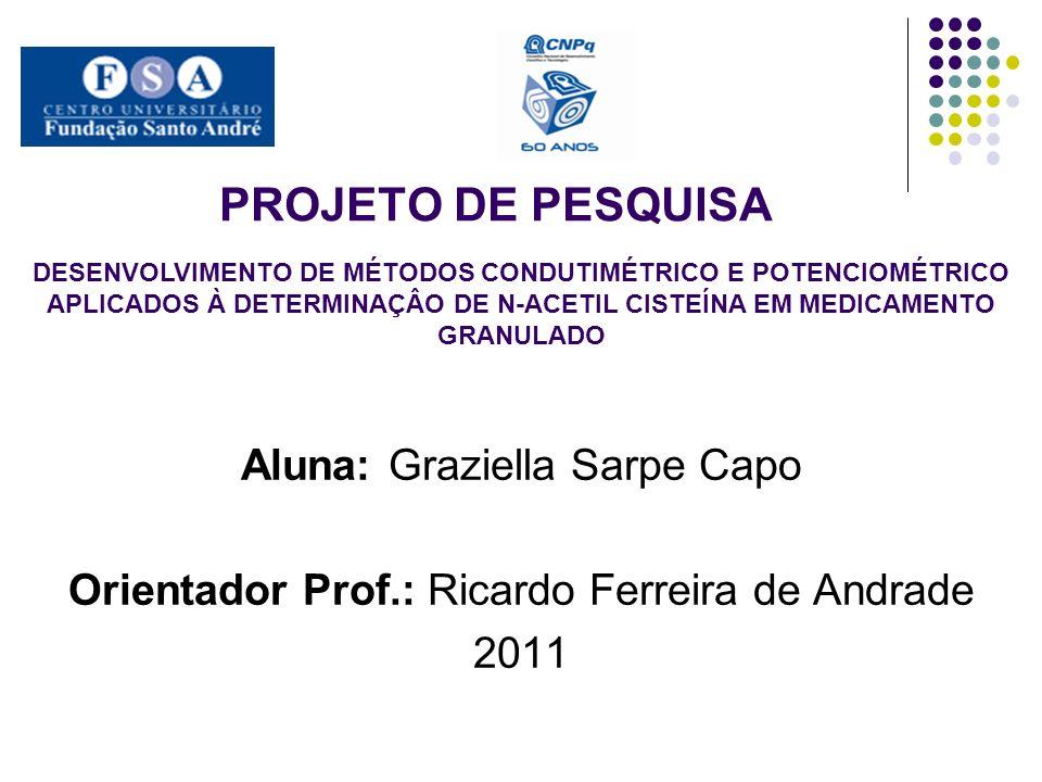 PROJETO DE PESQUISA Aluna: Graziella Sarpe Capo