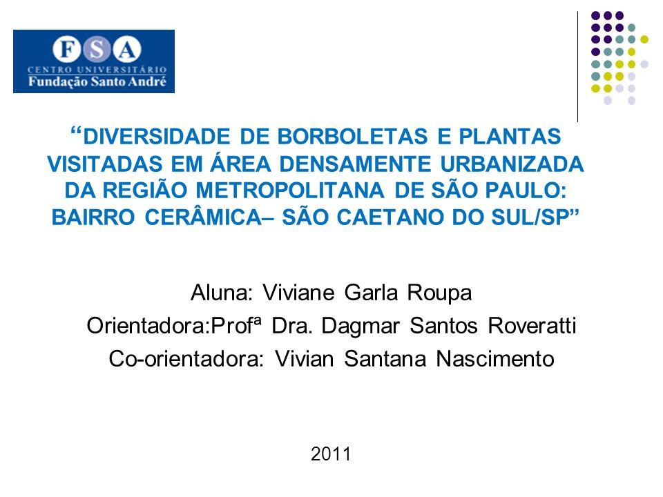 DIVERSIDADE DE BORBOLETAS E PLANTAS VISITADAS EM ÁREA DENSAMENTE URBANIZADA DA REGIÃO METROPOLITANA DE SÃO PAULO: BAIRRO CERÂMICA– SÃO CAETANO DO SUL/SP