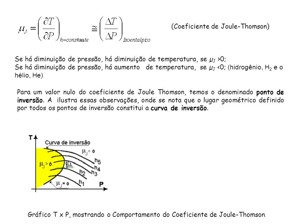(Coeficiente de Joule-Thomson)
