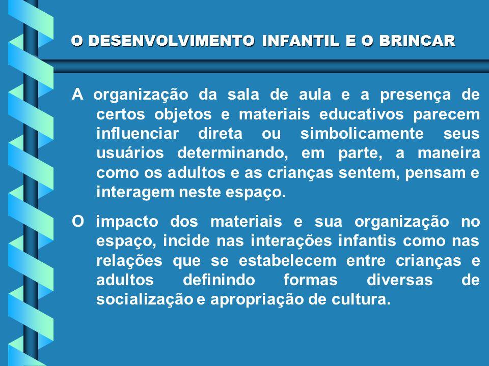 O DESENVOLVIMENTO INFANTIL E O BRINCAR