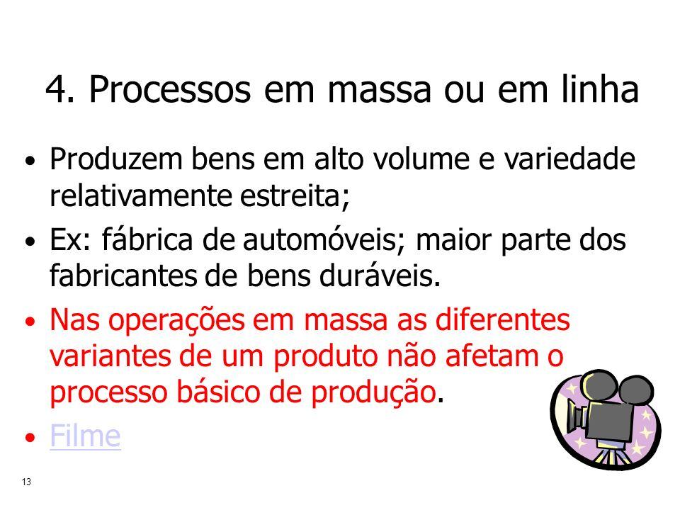 4. Processos em massa ou em linha