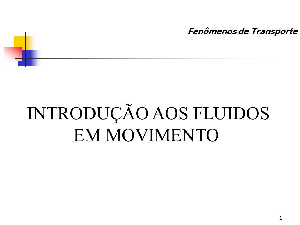 INTRODUÇÃO AOS FLUIDOS EM MOVIMENTO