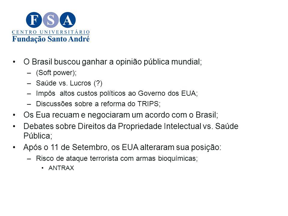O Brasil buscou ganhar a opinião pública mundial;