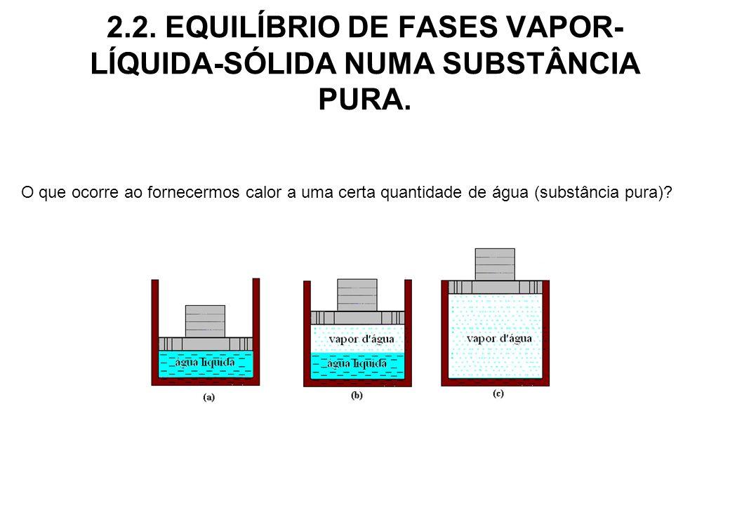 2.2. EQUILÍBRIO DE FASES VAPOR-LÍQUIDA-SÓLIDA NUMA SUBSTÂNCIA PURA.
