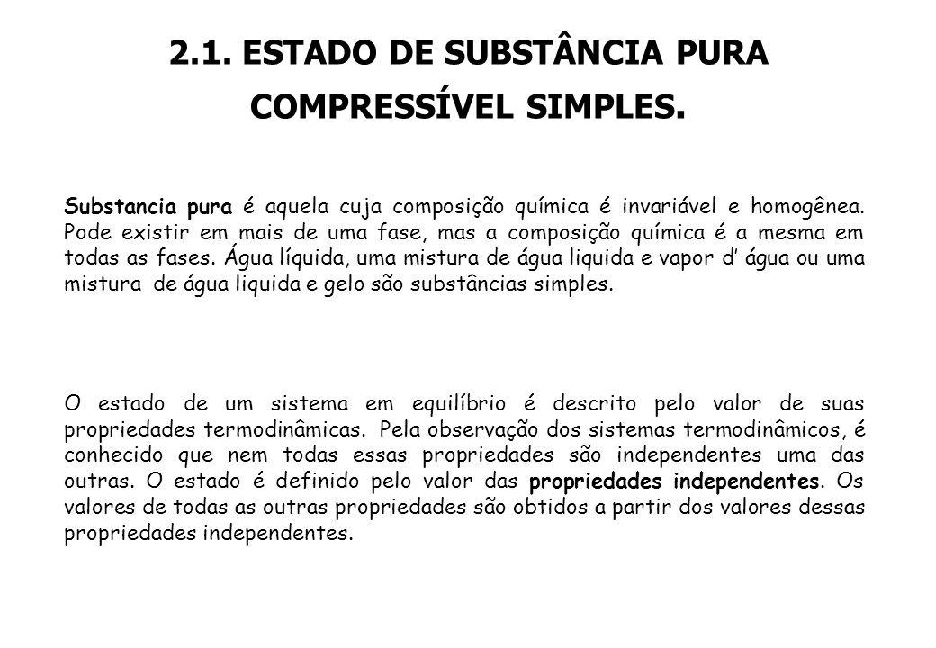 2.1. ESTADO DE SUBSTÂNCIA PURA COMPRESSÍVEL SIMPLES.