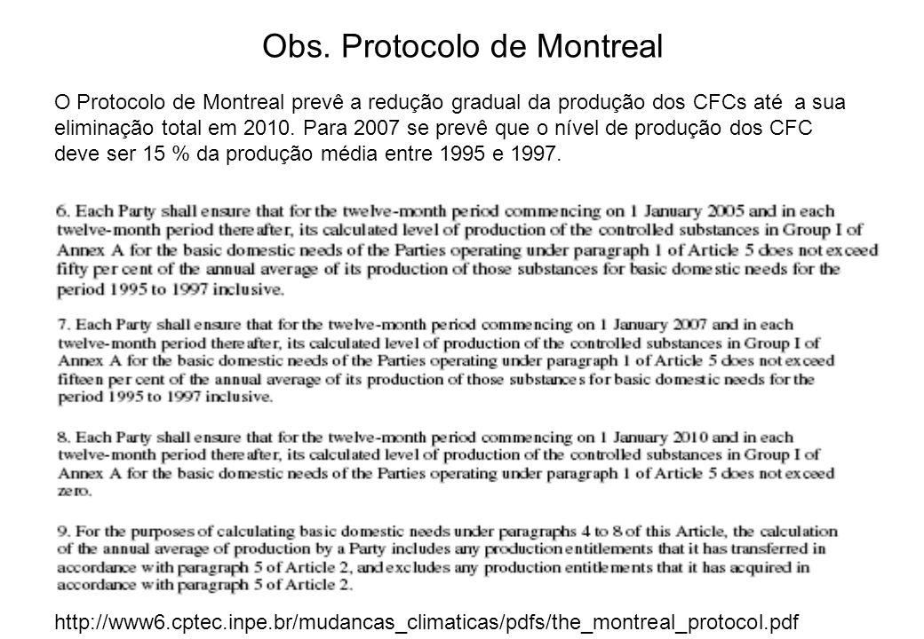 Obs. Protocolo de Montreal
