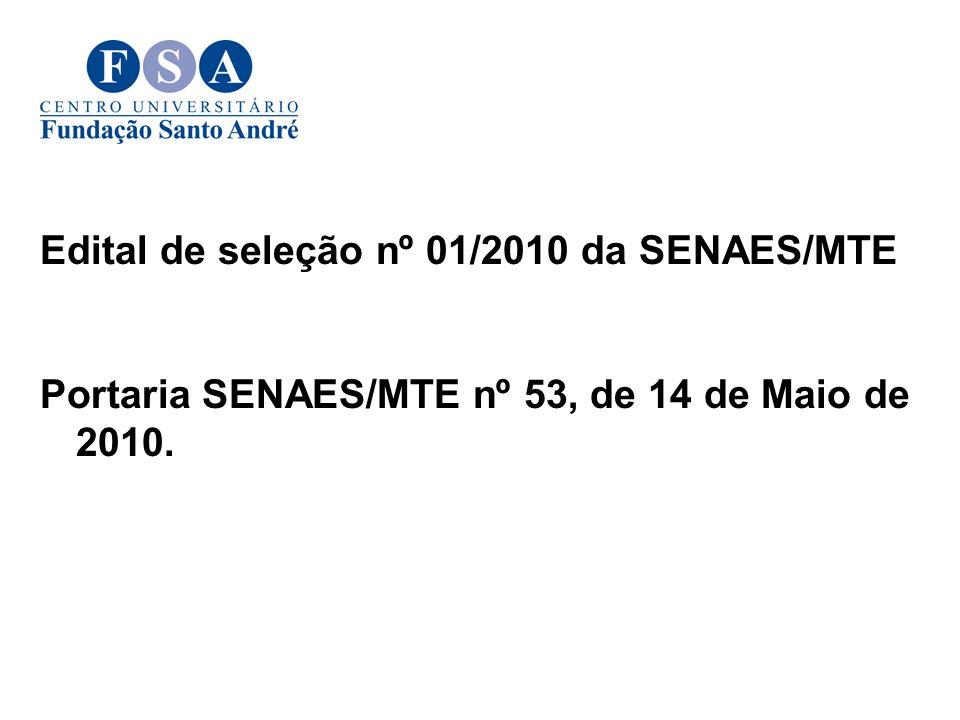 Edital de seleção nº 01/2010 da SENAES/MTE